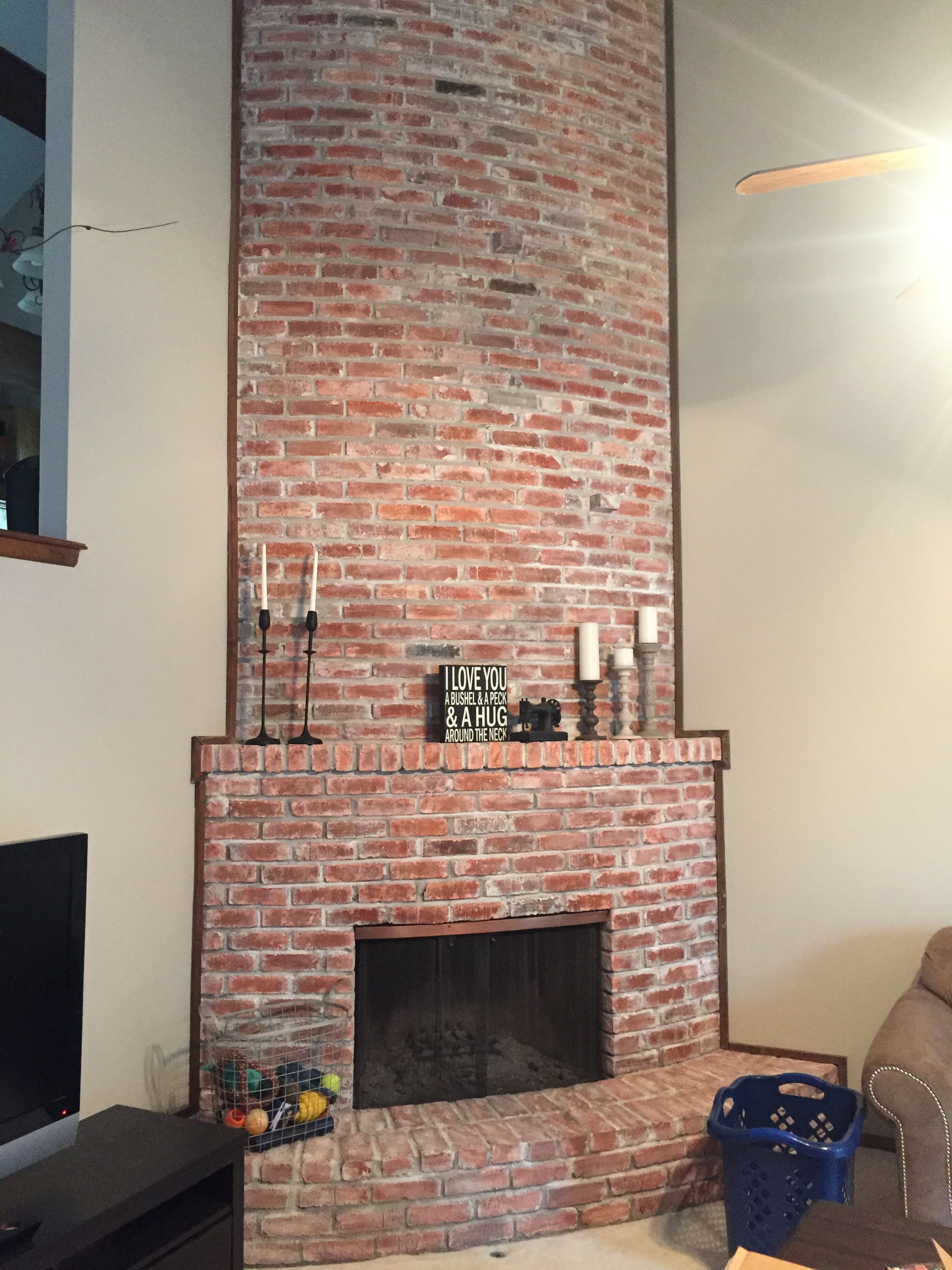 Fireplace White Wash Overland Park KS